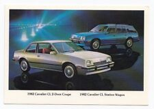 1982 CHEVROLET Cavalier CL 2-Door Coupe & Station Wagon GM USA Advertising