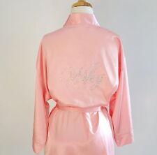 Pink Satin Bride Robe Wifey Robe Wedding Robes Bridesmaid Robe Bride Gift S M