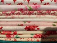 Fat Quarters Cotton Fabric Calico Rose Quilting Squares Charms DIY Sewing