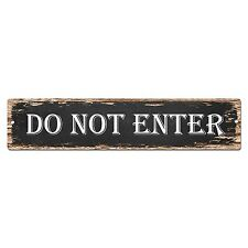 SP0817 DO NOT ENTER Street Sign Restaurant Bar Store Shop Cafe Home Chic Decor