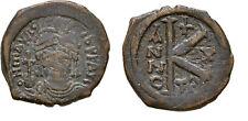 Ancient Byzantine 582- 602 Mauritius Tiberius Half Follis