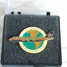 United Airlines Jet Shop San francisco Pin Back - Tie Hold by ArtStar FREE SHIP