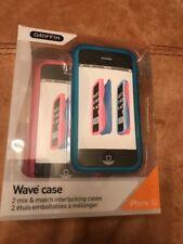 Iphone 3G caja del teléfono 2 Pack Rosa Azul Nuevo