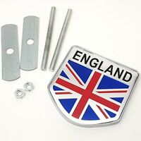 3D Metal Alloy ENGLAND Logo Grille Emblem Decal Decorate Sticker Front Grill
