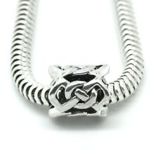 CELTIC KNOT spacer - Solid 925 sterling silver European charm bead - Threaded