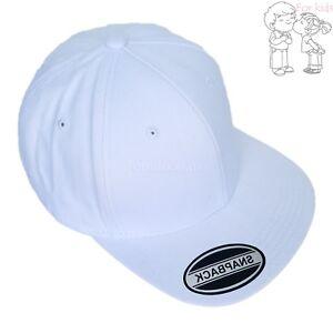 Baseball Cap Kids Solid Plain Boys Children Snapback Hat Classic Visor Flat Brim