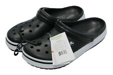 NWT - CROCS Unisex 'CROCBAND II' Black/White RELAXED-FIT CLOGS - M 9 / W 11