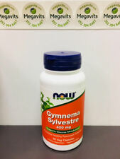 NOW Foods Gymnema Sylvestre 400 mg, 90 Caps. Supports Glucose / Sugar Cravings