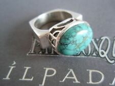 SILPADA RARE RETIRED Geometric Sterling Silver 925 Turquoise Ring Size 7 R0786