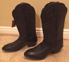 BRAND NEW Ariat Ladies Heritage Western Black Rounded Toe Deertan Boots 10001037