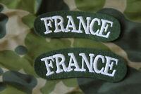 INSIGNE TISSU BRODE DE LA BANANE FRANCE Blancoté  en vert (la paire)