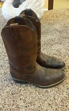 VTG Georgia Biker/Engineer/Cowboy Boots Men's Size 9M Brown Leather Made In USA