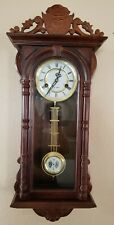 Antique Wall Clock with Key and Pendulum in Excellent Working Condition!
