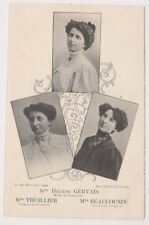 Theatrical postcard - Gervais, Thullier & Beaucousin Actresses (A6)