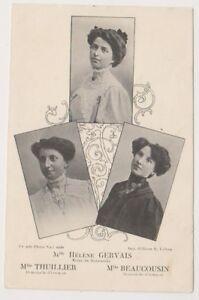 Theater Postkarte - Gervais, Thullier & Beaucousin Schauspielerinnen (A6)