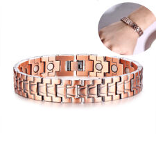 Health Magnetic Therapy Copper Bracelet Men Bangles Pain Relief Chain Link Gift