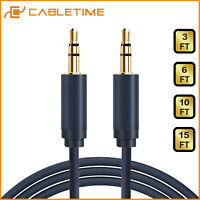 Cabletime 3.5mm Jack Male to Male Stereo Audio Cable Lead GOLD AUX 1-5m Blue
