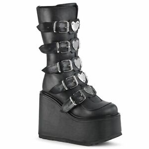 SWING-230  Black Vegan Leather