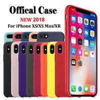Original Silicone Slim Case For iPhone XR XS Max X 6 7 8 Plus Genuine OEM Cover