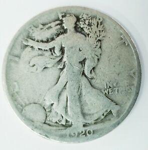 1920-S Liberty Walking Silver Half Dollar Average Circulated