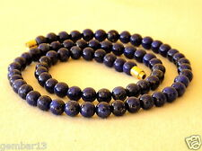 "Blue Lapis Lazuli 6mm Necklace Round Beads 16"" necklace 6 mm Lapis Beads"