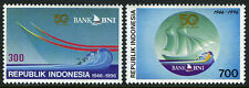 Indonesia 1663-1664, MNH. Bank BNI, Sailing ship, 1996