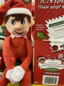 Adopt an Elf Elves Behaving Badly Red Christmas Elfie Adoption Certificate Xmas