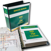 SERVICE MANUAL FOR JOHN DEERE 650 750 TRACTOR TECHNICAL REPAIR SHOP BOOK OVHL