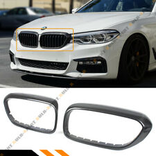 FOR 2017-2020 BMW G30 530i 540i M550 F90 M5 CARBON FIBER GRILL INSERT TRIM COVER