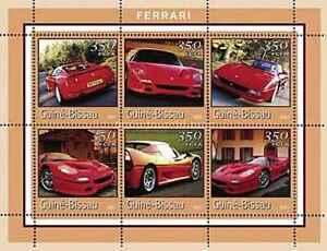 Timbres Voitures Ferrari Guinée Bissau 1031CX/DC ** (55007BM) - cote : 12 €