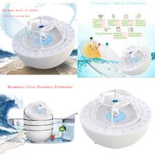2A Ultrasonic Sink Dishwasher Usb Automatic Wave Dishwasher Wide Use Blue