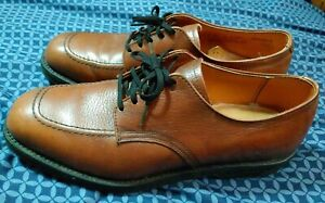 Red Wing Vintage Oxford Dress Shoes Size 10 Brown Retro Postal Apron 9340