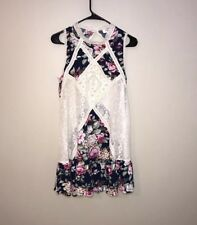Umgee Multicolor Floral Lace Dress Sleeveless Small
