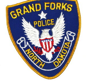GRAND FORKS NORTH DAKOTA ND Sheriff Police Patch VINTAGE OLD MESH AA24