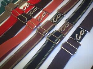 heavy duty adults elastic snake belts extra wide  1.1/2 inch