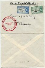 BSIP SOLOMON ISLANDS GOVERNMENT STORE OFFICIAL OHMS 1/3 + 6d 1965