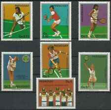 Timbres Sports Tennis Paraguay 2254/60 ** lot 25942