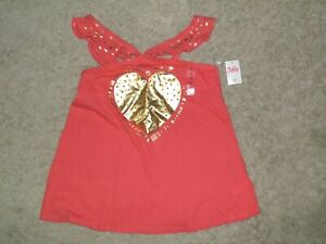 """JUSTICE """"BE HAPPY BE BRIGHT"""" Sparkle Heart Top Size 14~ NEW!"""