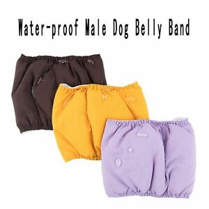 Waterproof Dog Diapers Reusable Strong Absorbent Male Pet Belly Band Pants Wraps