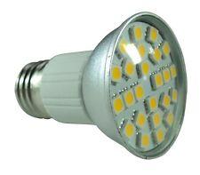 20 Ampoules à 24 leds SMD Blanc Chaud Culot E27 - Eclaire Comme 50W