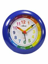Atlanta Despertador Niños Azul Reloj De Aprendizaje analógico cuarzo para 1265/5