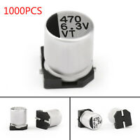 1000x 6.3V 470uF 6.3*7.7mm +-20% SMD Condensatori elettrolitici Chip E-Cap IT