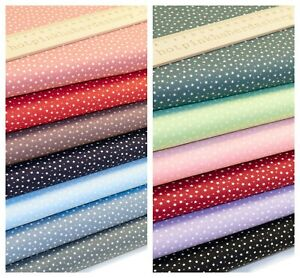 Tiny Sky Stars & Spots 100% Cotton Poplin Fabric by Rose & Hubble Polka Dots