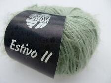 Lana Grossa estivo II Ligero sommerflauschgarn color 023 gris-verde