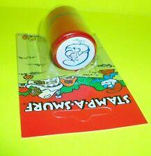 Vtg Smurf WB Ganz Bros Toy Ltd Peyo RARE PAPA SMURF STAMP-A-SMURF Ink Stamper