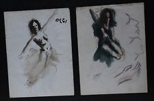 DRAWINGS OF DANCERS, 1950S / 1960S, BY D'YBERIO