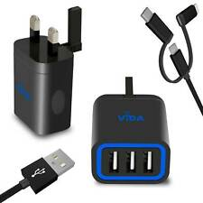Fast Multi Port USB Wall Charger Plug with Cable Type C Lightning For Tablet PC