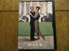 Dave - Kevin Kline, Sigourney Weaver - 1993 Warner Bros. DVD LIKE NEW!!!