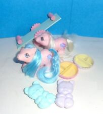 Vintage My Little Pony TWINS STICKY & SNIFFLES with ACCESSORIES from 1987
