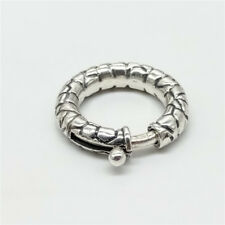 925 Sterling Silver Oxidized Spring Ring Clasp Diameter 19.5mm